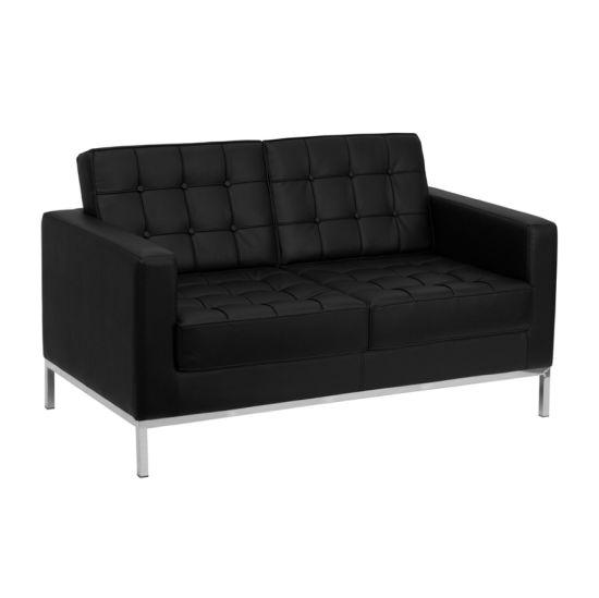 Classic Leather 2 Seater Sofa Steel Frame Sofa