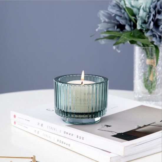 High Quality Colored Empty Elegant Delicate Smooth Glass Candle Jars
