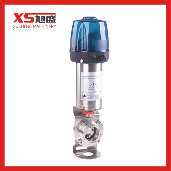 Sanitary Stainless Steel Pneumatic Actuator Butterfly Control Valve