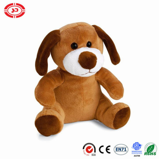 Super Soft Fancy Quality Sitting Brown Cute Puppy Dog Toy