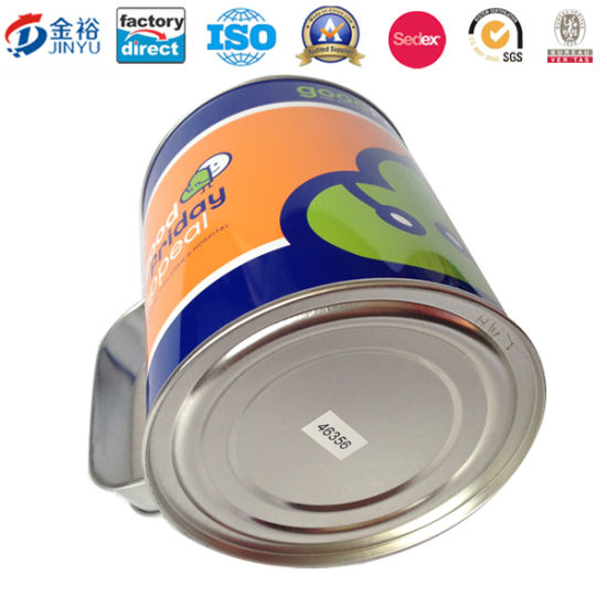 OEM Chinese Factory Round Coin Bank with Handle Tin Can Jy-Wd-2015112801 pictures & photos