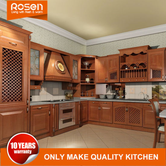 Purchase Oak Solid Wood Engraved Kitchen Cupboards Cabinets Furniture