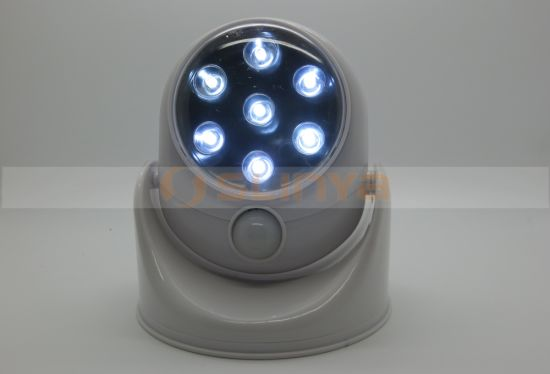 360 Degree Automatic 7 LED Rotation Sensor Book Lamp Light pictures & photos