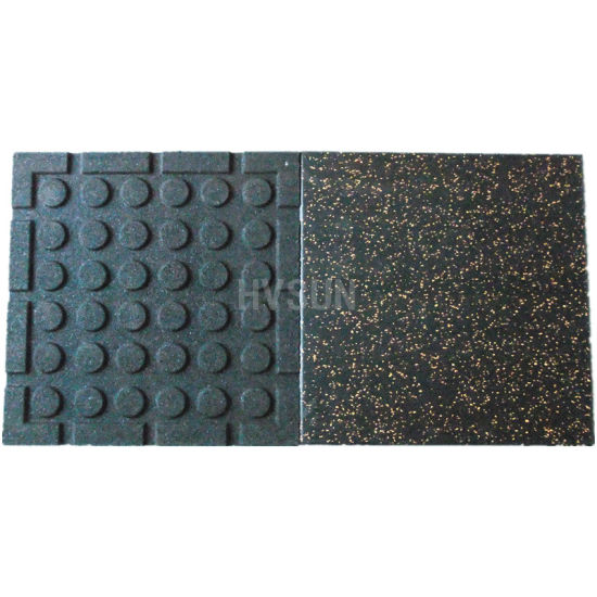 China anti slip sound insulation rubber flooring for fitness room