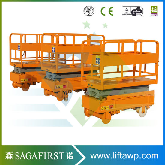 3m 4m Hydraulic Semi Electric Mobile Elevator Hydraulic Work Table pictures & photos