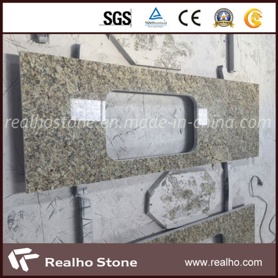 Yellow Granite Slab Countertop for Kitchen (RHCA-015)