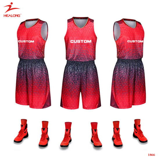 54420d4ca Healong Bespoke Sportswear Sublimation Printing Basketball Jersey in Stock  pictures   photos