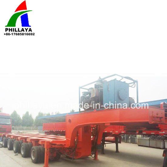 Gooseneck Hydraulic Steering Axles Modular Trailer Transporter pictures & photos
