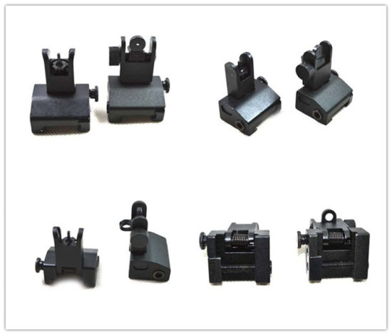 China Tactical Flip up Front and Rear Back up Iron Sight