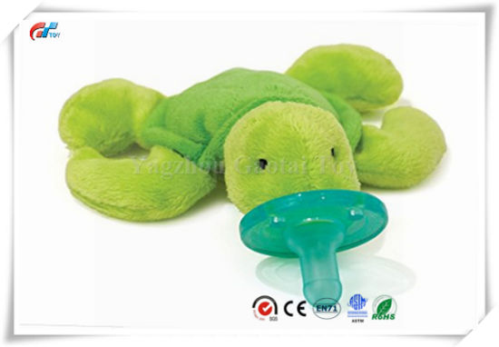 Small Cute Soft Dinosaur Infant Plush Pacifier Toy