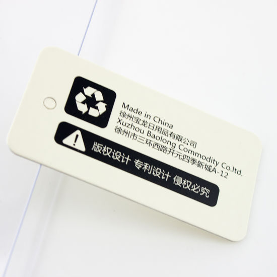 Wholesale China Garment Custom Swing Retail Hand Tag, Hang Tag Printing for Garment pictures & photos