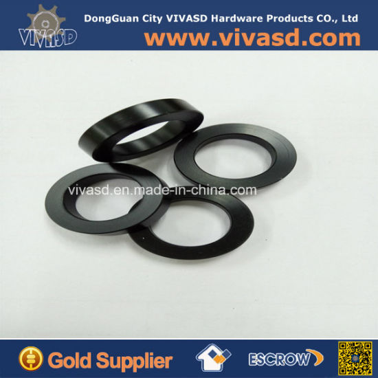 Precision CNC Machining Black Delrin Shifter Bushing Washers pictures & photos