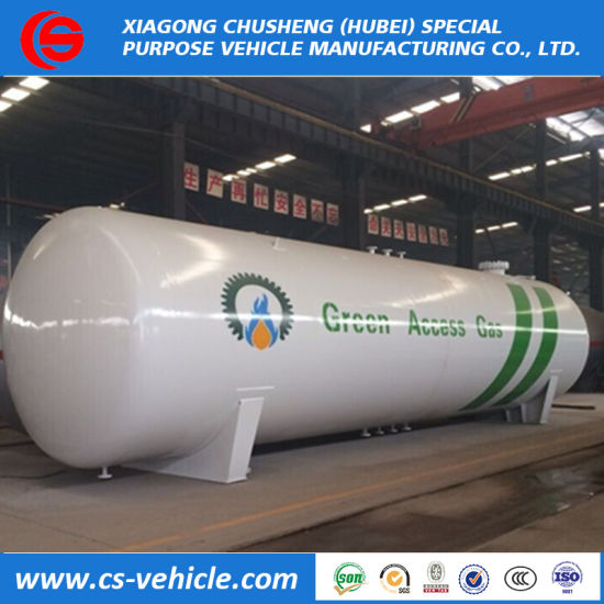ASME 25ton 50tons Propane Gas Tanker 50000 Liters 100, 000L Pressure Vessel 50m3 LPG Storage Tank for Nigeria Market