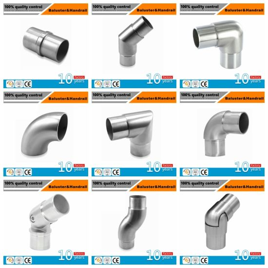 Stainless Steel Handrail Fittings Elbow Connector for Round Pipe