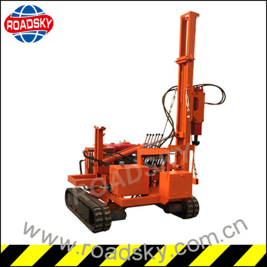 Hydraulic Highway Steel Guardrail Installing Machine for Piling Post pictures & photos