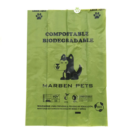 3dc91e24825 100% Biodegradable Corn Starch Customized Eco-Friendly Plastic Shopping Bag