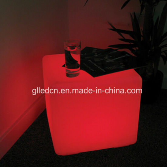 40X40X40cm LED Cube Table and Chair for Snack Bar