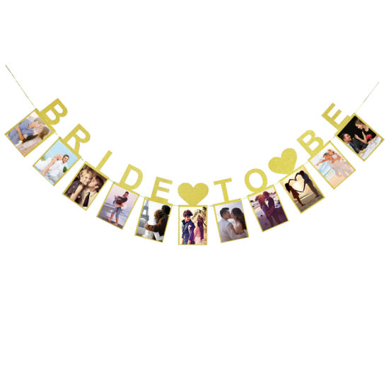 umiss gold glitter letter banner for bridal shower bachelorette party decoration