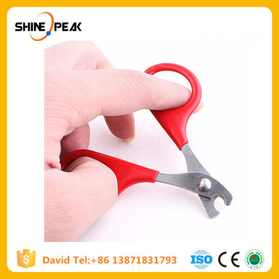 8cm Pet Product Red Small Dogs with Pet Nail Scissors Cats Use Nail Clippers Pet Cat Tools Supplies 6ca084 pictures & photos