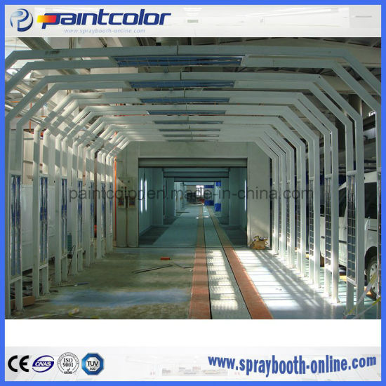Auto Body Painting Inspection Booth Line Checking Car by Lighting Tunnel  Used in Car Body Shop or Car Manufacturing Factory
