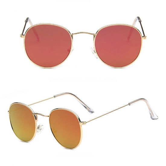 52cd0b490 New Fashion Sunglasses Women Metal Frame Circle Glasses Mirrored Round Sun  Glasses