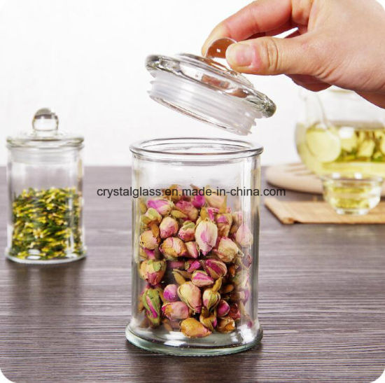 Airtight Glass Decorative Jar With Lid Food Storage Containers
