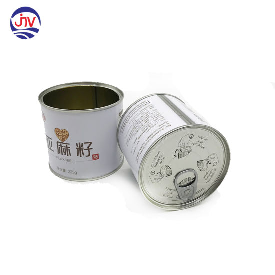 Vegetable Seed Storage Can Tin with Easy Open Lid
