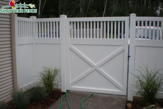 China Durable 6h8w Pvc Privacy Fence With Closed Top China