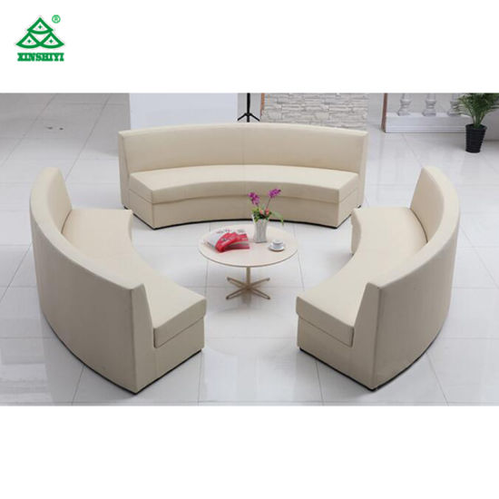 Commercial Hotel Lobby Furniture With Leather Sofa / Solid Wood Dininng /  Coffee Chair