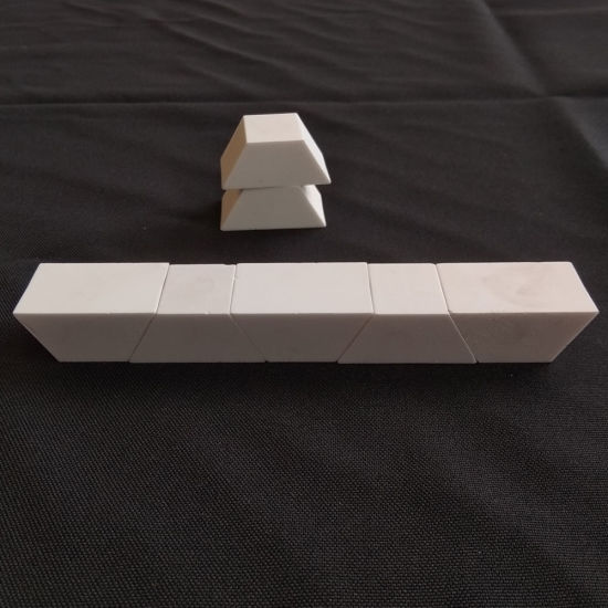 Small Trapezoid Shaped Ceramic Liner for Chute Conveyor