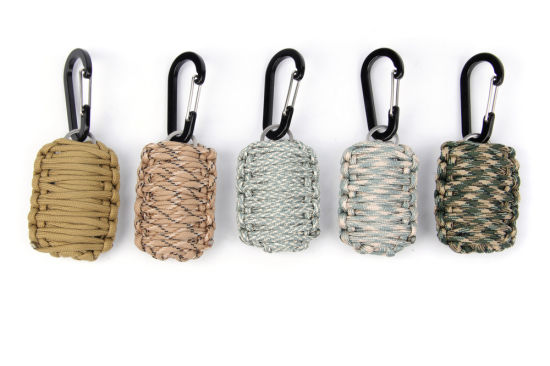 Fashion Pure Hand-Woven Outdoor Mountaineering Paracord with Emergency Outdoor Survival Custom Key Chain