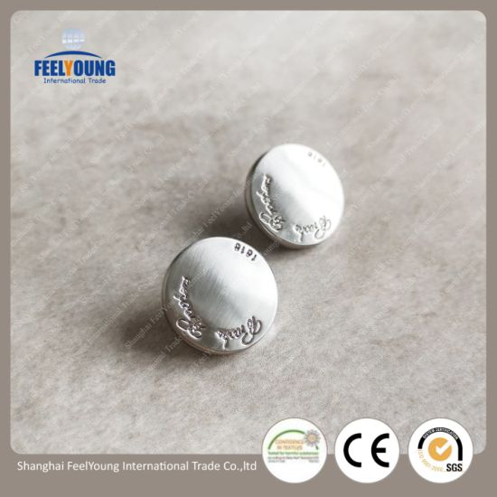 Alloy Snap Button, Alloy Metal Jeans Button, Customised Snap Button