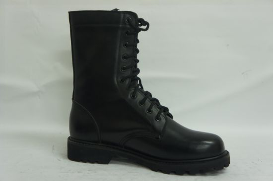 High Ankle Black Jungle Leather Combat Army Military Boots pictures & photos