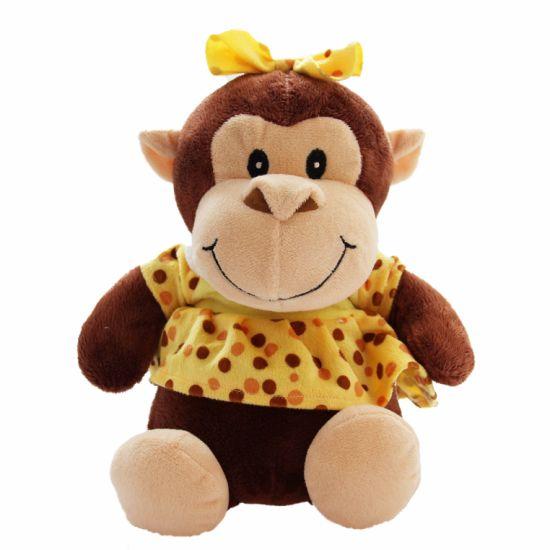 New Design Plush Toy Stuffed Animal Rainbow Monkey with Bowknot