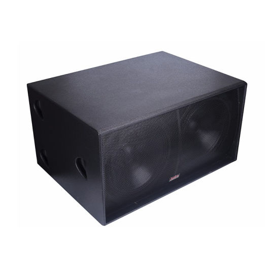 Jusbe S218 Dual 18 Inch Subwoofer Max Professional Audio System Stage Speaker Box