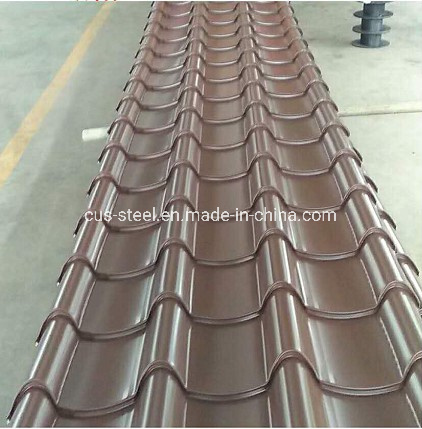 China Myanmar Crown Eagle Convex Design Alu Zinc Color Roofing Sheets Glazed Roof Tiles China Brick Color Glazed Tile Color Corrugated Roofing Sheet