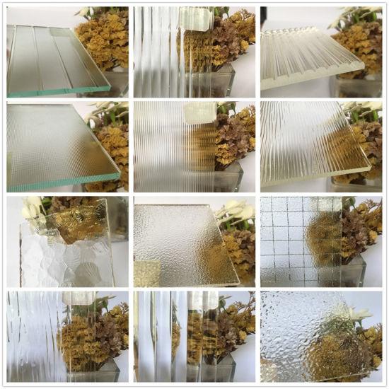 3mm-8mm Clear Figured Architectural Kasumi Pattern Flat Design Glass