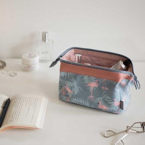 Fashion Custom Travel Cosmetic Pouch Women Canvas Makeup Bag