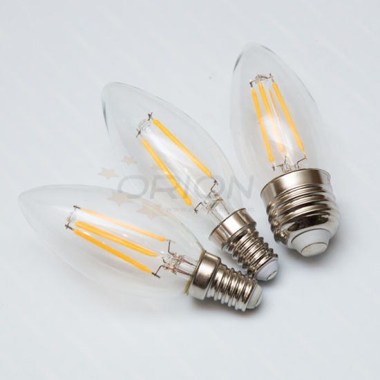 C35 Warm White B22 Candle Light B15 Dimmable LED Filament Candle for Chandelier