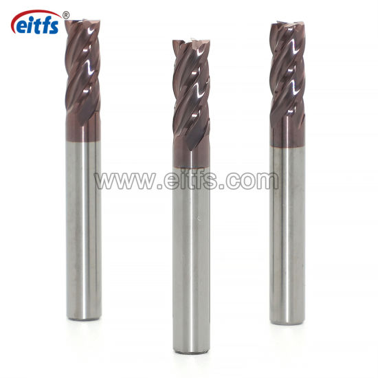 4 Flute CNC Lathe Flat Cemented Carbide End Mill Coat Cutter Cutting Tools with Face Milling and Face Milling