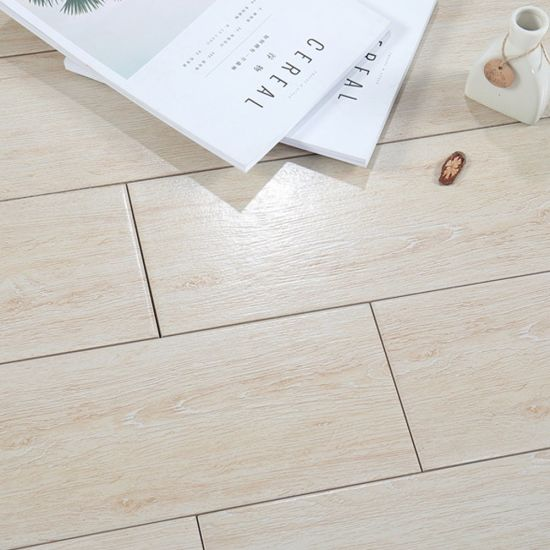 European Style Commercial Use Light Colored Wood Look Tile