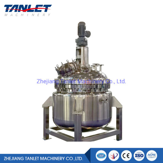 Stainless Steel Jacketed Mixing Stirring Reactor