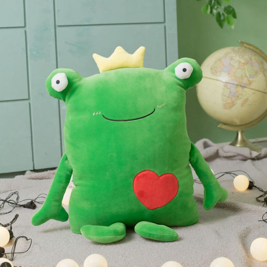 Software Lovely Prince Frog Doll Plush Toys Office Nap Pillow Cushion for Leaning on Can Be Customized
