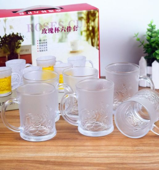 6 PCS Set Rose Drinking Beer Glass Cup Promotion Glass Products