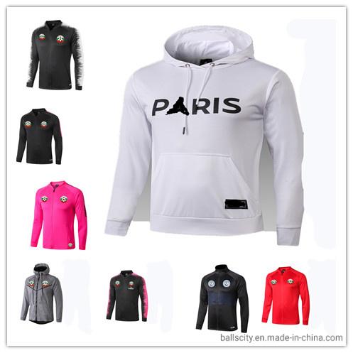 Hot Sale Custom Soccer Jacket Long-Sleeve Jacket Outerwear Training Suit for Big Size