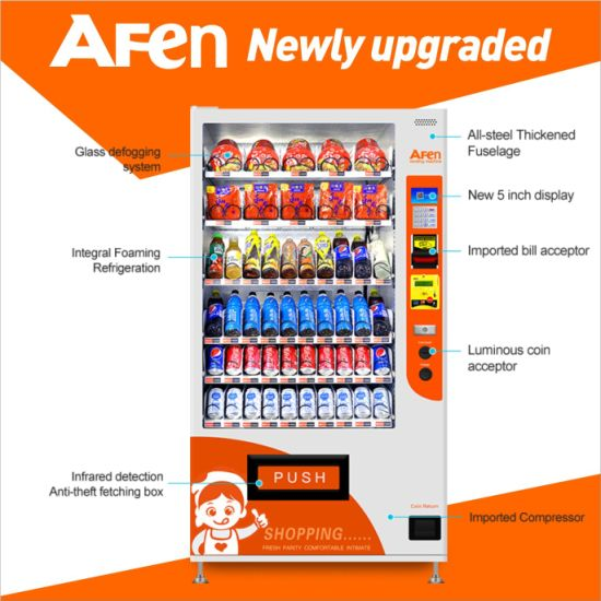 Afen Promotional Price Combo Vending Machine for Shoes/Slippers/Drinks pictures & photos
