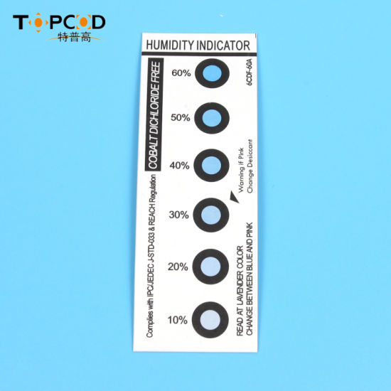 Humidity Indicator Card Cdf CF for PCB LED SMT