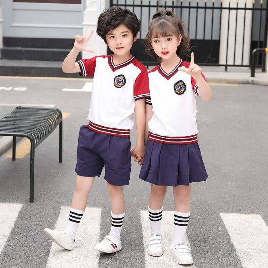 100% Cotton Polo Shirt and Shorts School Uniform for Kids