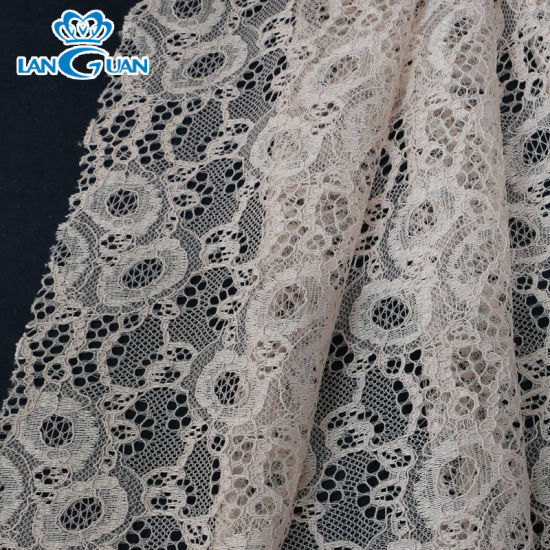 145cm Fancy White Wedding Lace Fabric Polyester Cord