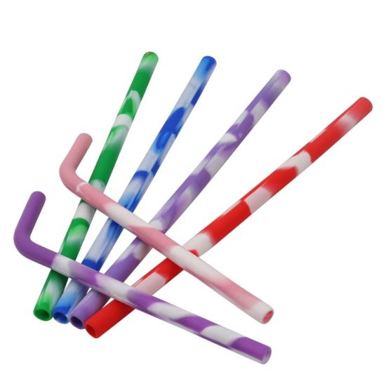 The Latest Reusable Colorful Silicone Drinking Straws pictures & photos